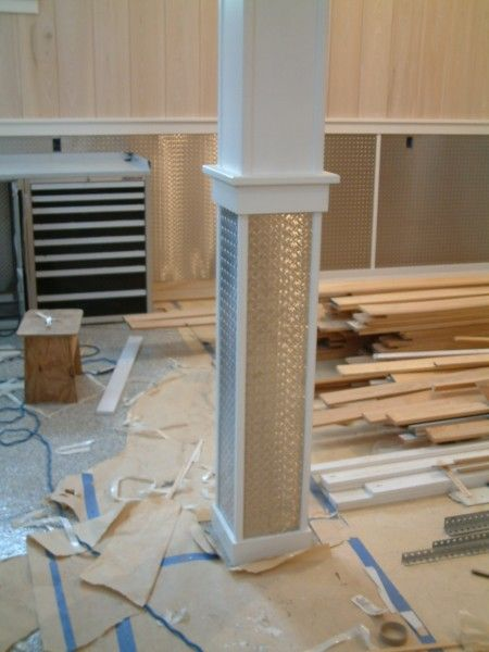 Cool Paneling And How They Wrapped The Support Column