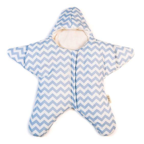 Piumino Neonato Baby Bites a forma di Stella Azzurra