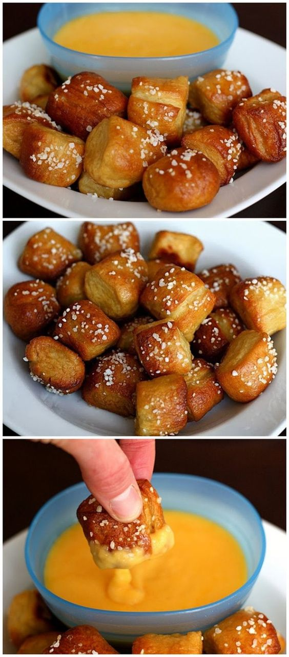 These Pretzel Bites are delicious. See this recipe and 21 other appetizers and party food recipes for Christmas and other holidays: