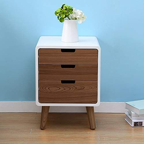 Ddss Bedside Table Creative Modern Three Story Drawer Bedroom