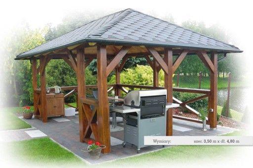Altana Drewniana Altanka Ogrodowa Domki 6668807591 Oficjalne Archiwum Allegro Gazebo Wooden Gazebo Gazebo Plans