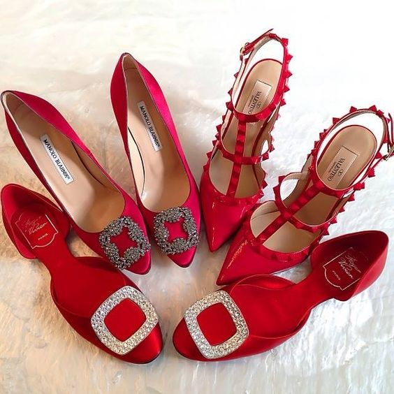 red manolo blahnik