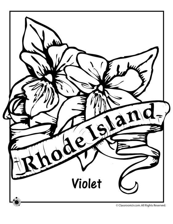 rhode island coloring pages - flower coloring pages rhode island and coloring pages on