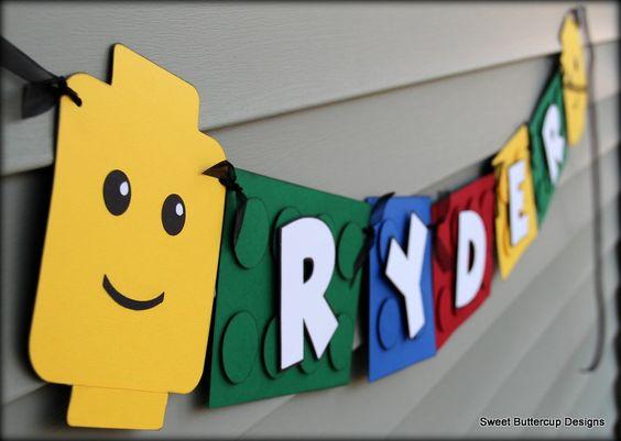 Lego Banner. $29.50, via Etsy. @Donna Burton