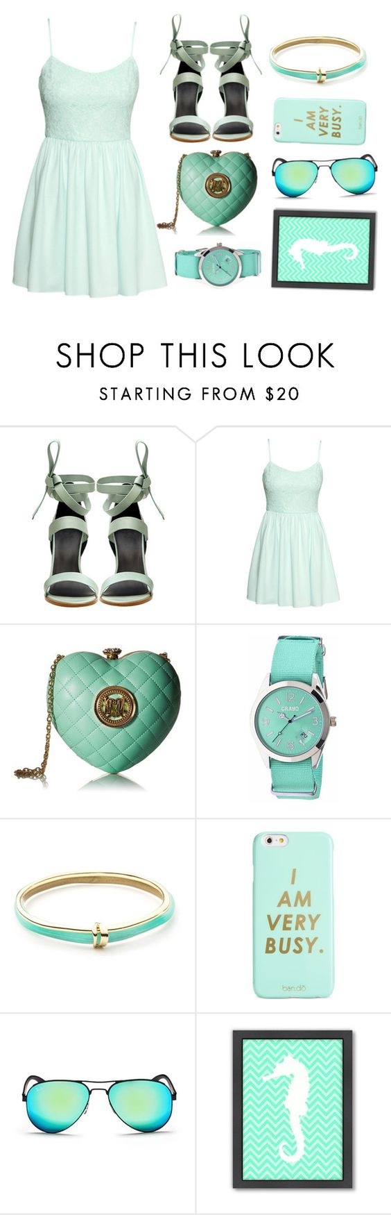 """""""look around"""" by lialicious on Polyvore featuring TIBI, H&M, Love Moschino, Crayo, Alexis Bittar, ban.do, Ray-Ban, Americanflat, contestentry and laceupsandals"""