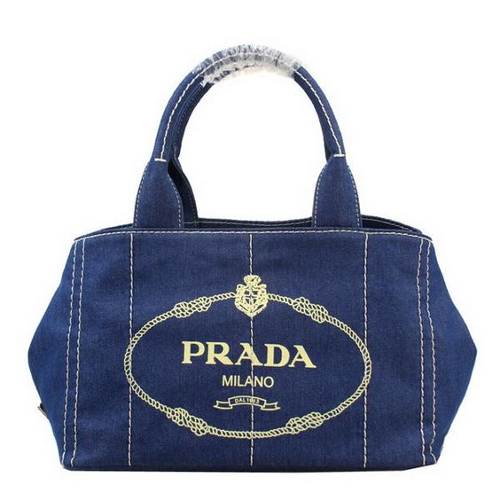 prada pink nylon bag - Prada Canapa Bag Denim Canvas Small Tote Bag BN2439 Blue.Prada ...