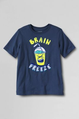 Toddler Boys' Short Sleeve Brain Freeze Graphic T-shirt from Lands' End