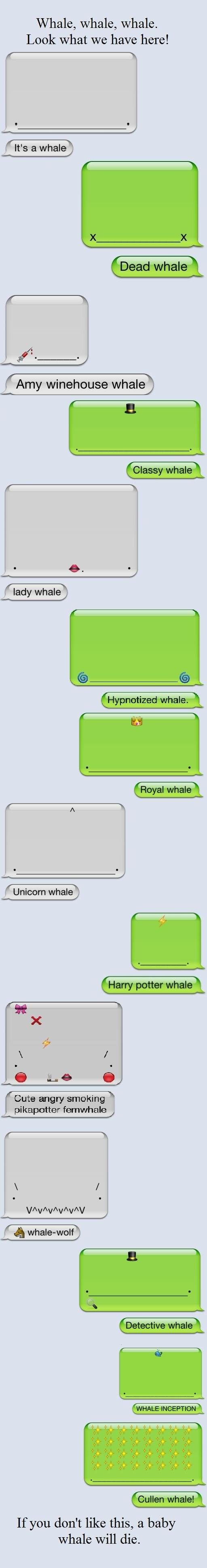 All of the whales. (Anyone else think this could be a conversation between Eridan and Feferi?)