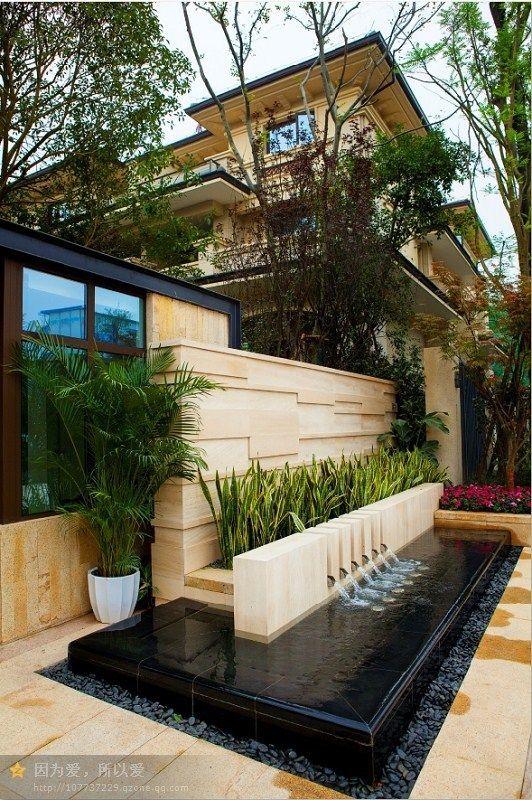 Fountain Landscape Design Backyard Garden Landscape Design