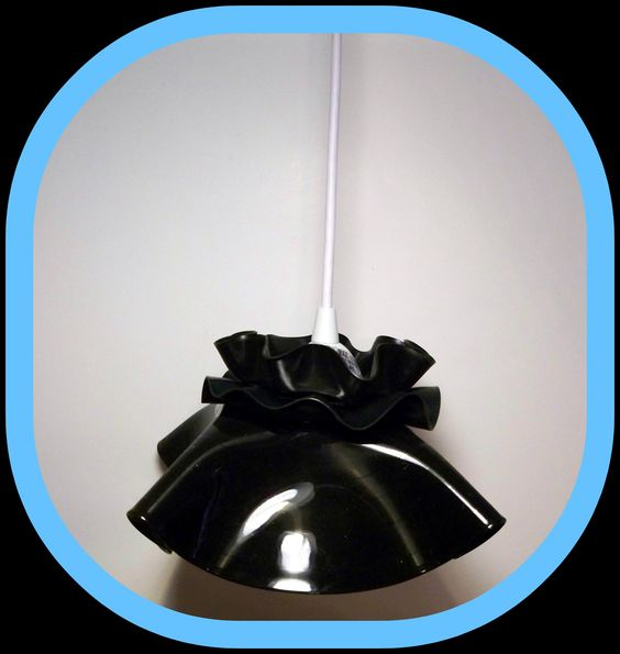 Recycled record vinyl lamp shade inspiration for Lamp light records