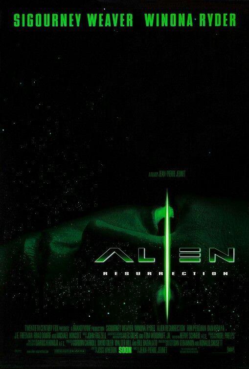 Alien Resurrection Movie Poster Scifi Scififantasy Fantasy