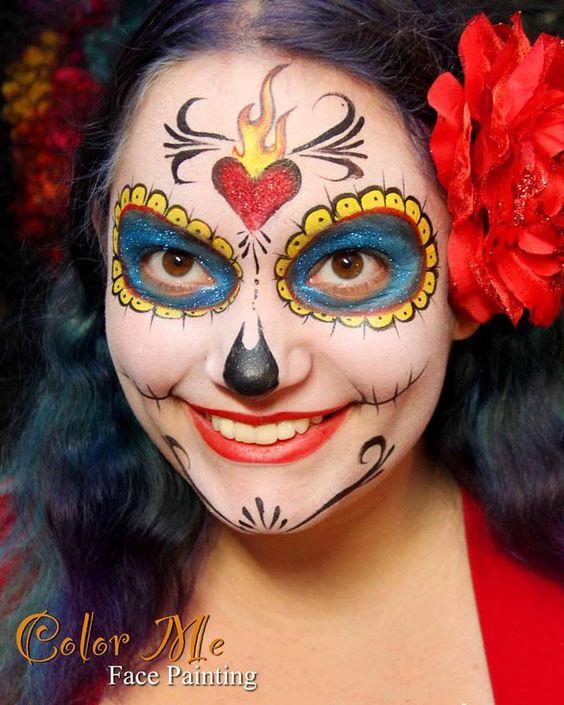 La Muerte Sugar Skull Makeup
