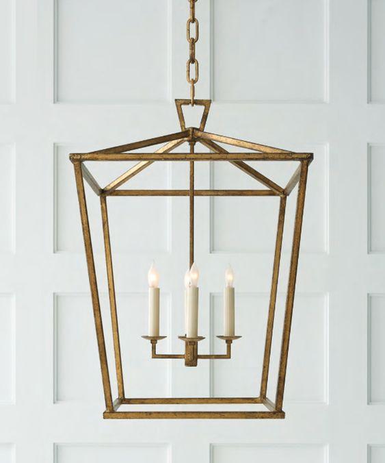 High Street Market - Medium Darlana Lantern, Gilded Gold
