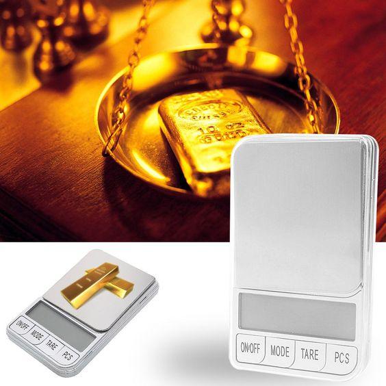 Digital Pocket 500g x 0.01g Gram Scale Jewelry Weight Electronic Balance Scale…