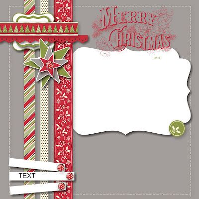 Carole's Corner of Crafts: MDS 092 Merry Christmas Scrapbook Page