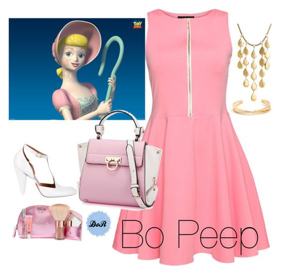 """""""Bo Peep"""" by disneyonrepeat ❤ liked on Polyvore featuring CÉLINE, Victoria's Secret and John Hardy"""