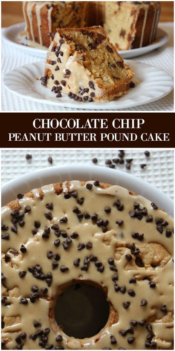 Chocolate Chip Peanut Butter Pound Cake