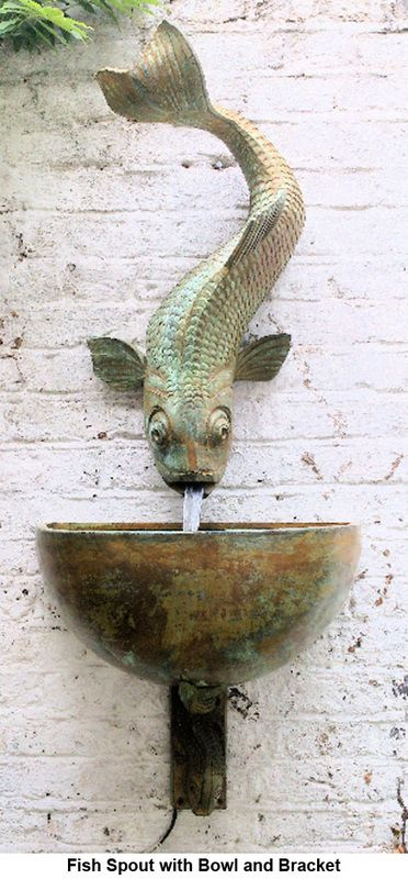 Fish Spout Wall Fountains Lucy Smith Water Features Pinterest Wall Fountains Fish And Carp