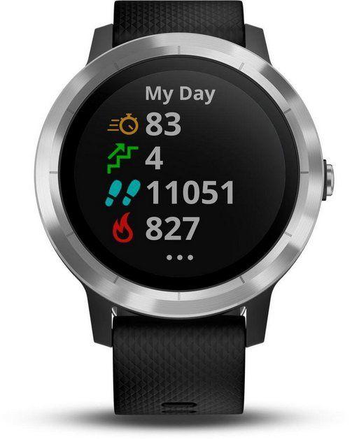 Garmin Vivoactive 3 Smartwatch 3 11 Cm 1 23 Zoll Smartwatch Silber Schwarz