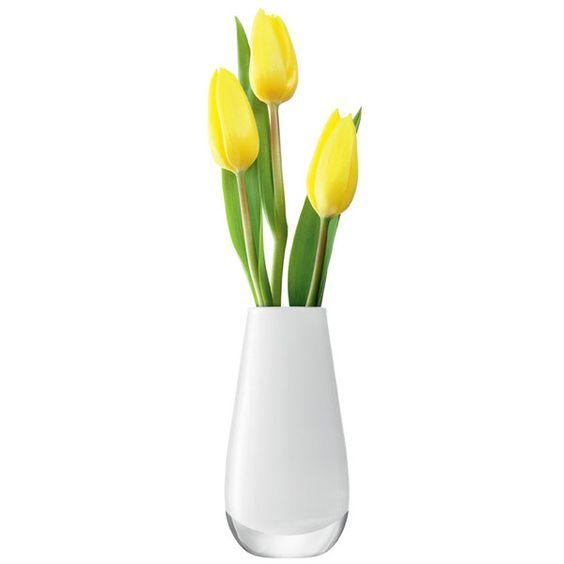 LSA Flower Colour White Vase 14cm