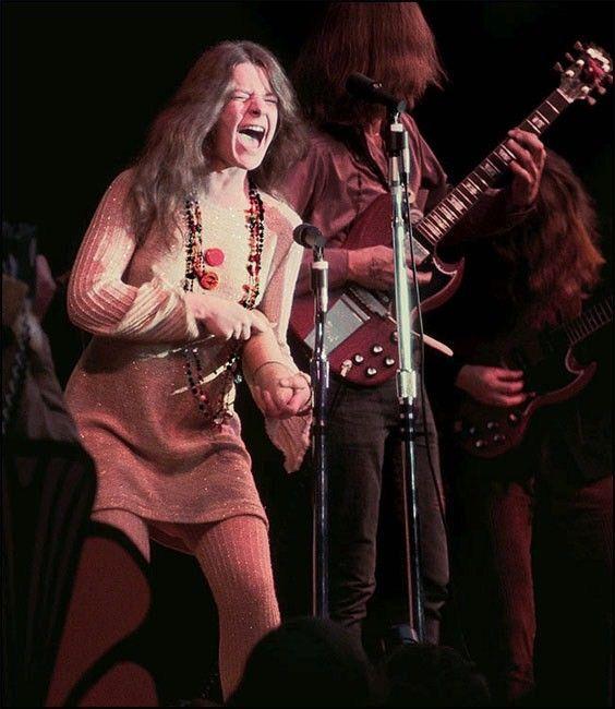 Janis Joplin (in her groundbreaking performance at the Monterey Pop Festival in 1967)!