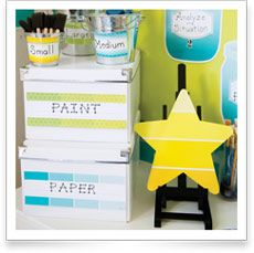 Organize your classroom in style with the Painted Palette Name