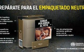 En el Día Mundial Sin Tabaco 2016 la OMS hace hincapié en la importancia el empaquetado neutro