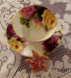 vintage Stanley porcelain tea cups from England