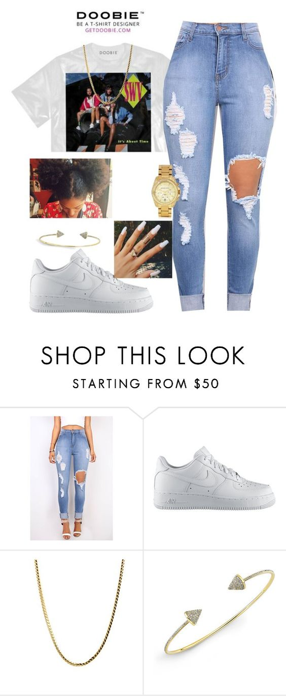 """""""Untitled #205"""" by kitty900 ❤ liked on Polyvore featuring NIKE, Anne Sisteron and Michael Kors"""