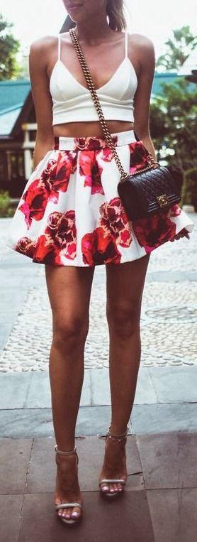 Crop + floral.