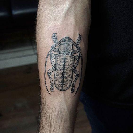 Cerambycidae coleoptera. Thanks @emmanuelmanuelito !  #Cerambycidae #coleoptera #insect #tattoos #tattoo #tatouage #ink #dot #dotworktattoo #dotwork #blackwork #blackworkerssubmission #darkartists #btattooing #lovettt #taot