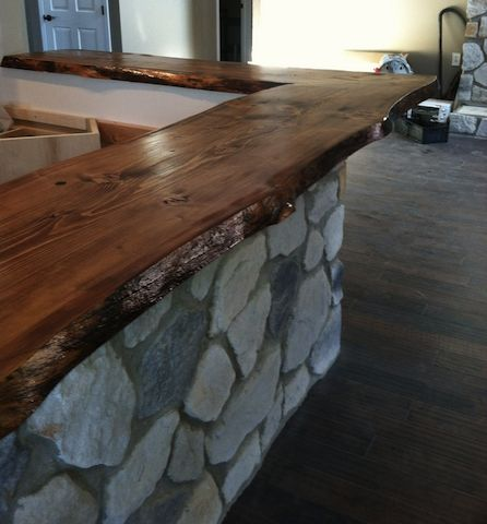 walnut slab bar top - Google Search