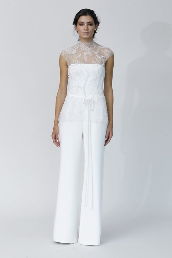 Top Wedding Dress Trends for 2014 Trousers - Rivini Fall 2014 Collection http://chicvintagebrides.com/index.php/wedding-dresses/top-10-wedding-dress-trends-2014/: