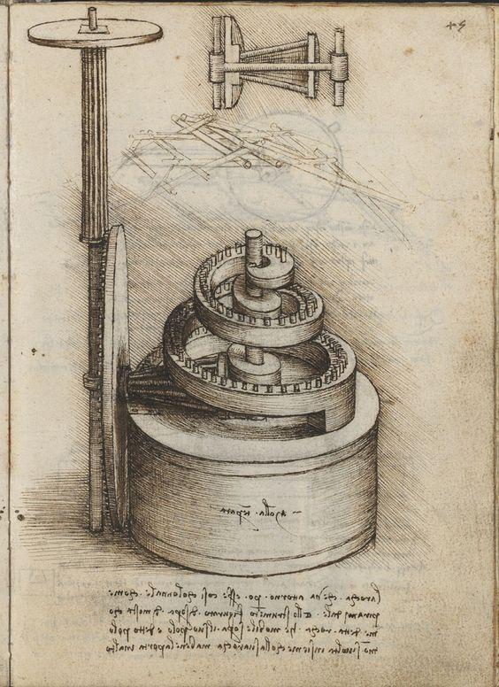 Dibujo de Leonardo da Vinci. Biblioteca Nacional de España
