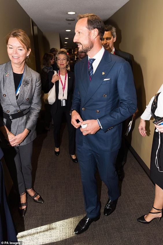 Crown Prince Haakon of Norway was also present at the high level meeting on oceans during ...