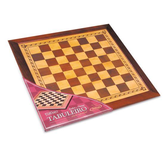 5642.1 - Tabuleiro Xadrez e Damas Série Especial | Alto padrão de acabamento. | Faixa etária: + 7 anos | Medidas: 55 x 1,5 x 55 cm | Xalingo Brinquedos | Xadrez | Crianças