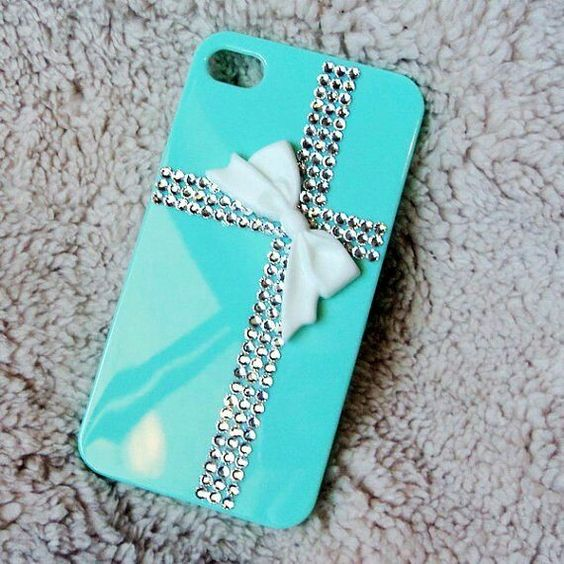 Blue i phone case