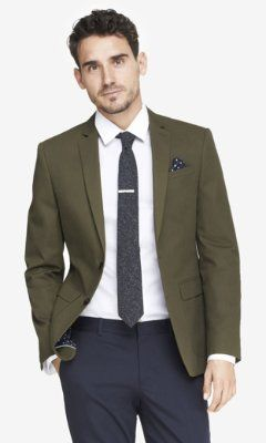 olive twill photographer suit jacket from EXPRESS