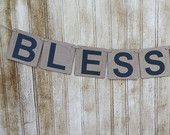 Blessed Banner, 4x4 Chipboard Banner
