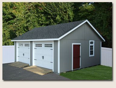 Simple Two Car Garage Garage Door Opener Prefab