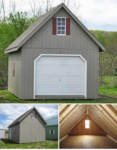 Garage products and single wide on pinterest for Single garage with carport