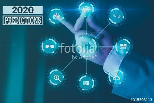 Handwriting Text Writing 2020 Predictions Conceptual Photo