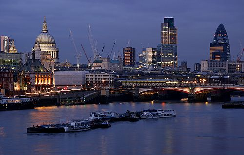 City of London    Seen from Waterloo Bridge  By david.bank