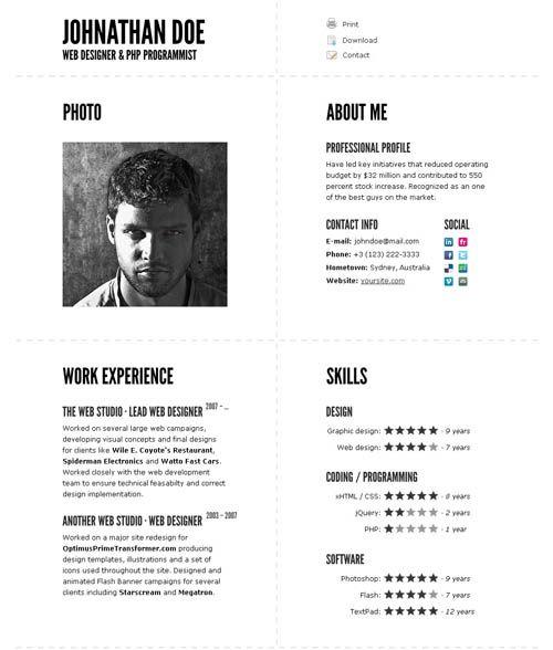 Resume templates impressive