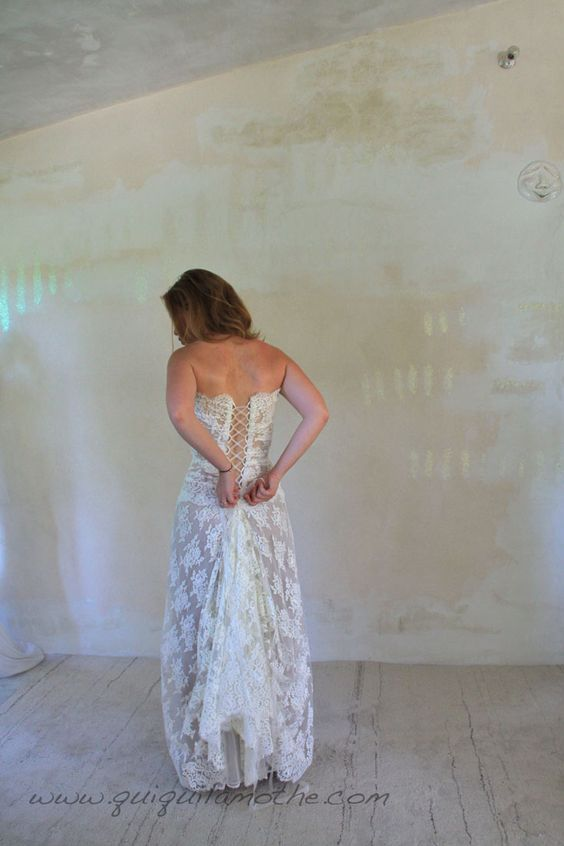 Robe de mariée transformable glamour.