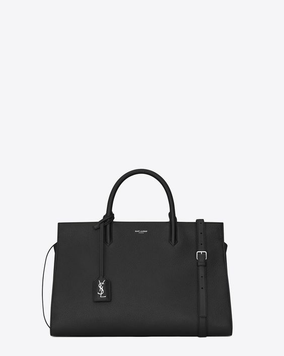 ysl cabas red - Saint Laurent tote bag with tubular handles, removable and ...