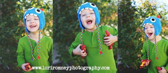 Colorful crocheted monster hat for little boys. All Lori Romney Photography facebook fans get 10% off their entire order! Message me for the code. :) www.facebook.com/loriromneyphotography | www.loriromneyphotography.com | www.crochetbyallie.com | Lori Romney Photography