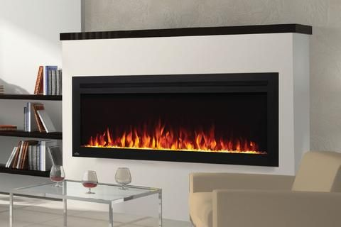 Napoleon Purview 50 Wall Mount Built In Electric Fireplace In