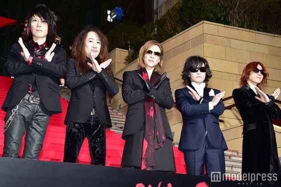 X JAPAN(左から)HEATH、PATA、YOSHIKI、Toshl、SUGIZO (C)モデルプレス