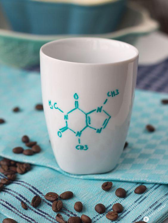 Koffein Kaffeetasse für Chemiker